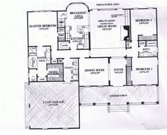First Floor Plan of Cape Cod Country Ranch Southern Traditional ...