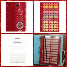 Os livros de receitas possuem divisórias personalizadas, adesivos para catalogar as receitas, marcador de páginas, mais de 20 páginas com dicas de cozinha e folhas decoradas.