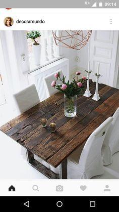 Mesa linda de material de demolição