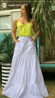 Casual Outfits, Fashion Outfits, Womens Fashion, Maxi Skirt Outfits, Women's Summer Fashion, Summer Trends, Poplin, Dress Patterns, Casual Chic