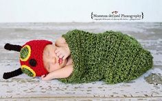 Hungry Caterpillar Hat and Cocoon Crochet Pattern - find lots of free patterns in our post