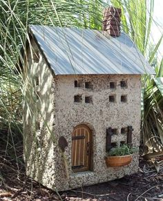 Hypertufa Garden Art Fairy Cottage | Downing Street Stone Cottage ...
