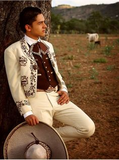 """""""Look for the opposite sex"""" A mexican country singer, stylish look. Very…"""