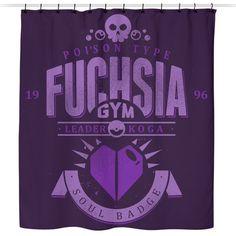 Fuchsia City Gym - Shower Curtain