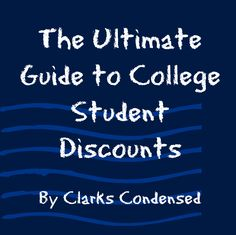 The Ultimate Guide to College Student Discounts!
