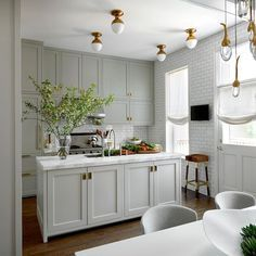 12 Farrow and Ball Kitchen Cabinet Colors - For the perfect English Kitchen-Lisa Gutow Design English Classic Kitchen Farrow and Ball Cromarty