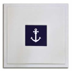 series of embroidered anchors.  so cute for a little boy's room @Daily