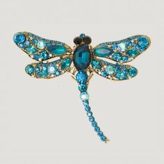 Dragon fly Crystal Brooch - Butler and Wilson