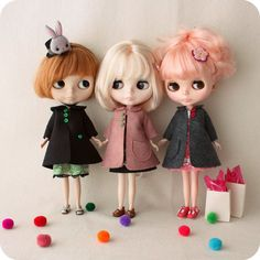 Vintage Swing Coat pdf Pattern for Blythe Dolls by Gingermelon