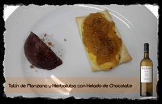 Cava Tatín de Manzana y Hierbaluisa con Helado de Chocolate