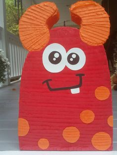 Monster Pinata, monster birthday party, monster party favor, baby first birthday, baby shower pinata