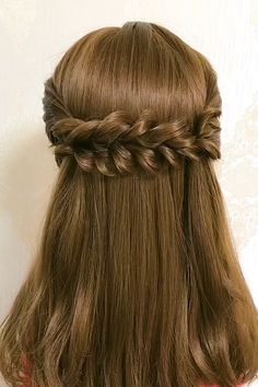 Easy Hairstyles For Thick Hair, Hair Tutorials For Medium Hair, Hairdo For Long Hair, Long Hair Video, Plaits Hairstyles, Beautiful Hairstyles, Front Hair Styles, Medium Hair Styles, Curly Hair Styles