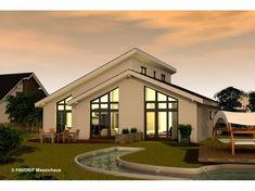 Chalet 132 - #Einfamilienhaus von Bau Braune Inh. Sven Lehner | HausXXL #Bungalow #modern #Satteldach