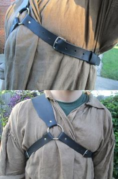 Leather Back Sword Scabbard Strap Medieval by FolkOfTheWoodCrafts