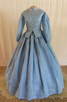 Civil War Dress - Visit to grab an amazing super hero shirt now on sale! Civil War Fashion, 1800s Fashion, 19th Century Fashion, Victorian Fashion, Victorian Dresses, Steampunk Fashion, Victorian Gothic, Gothic Lolita, Gothic Fashion