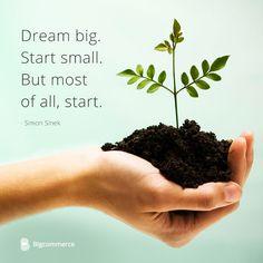 "Simon Sinek: ""Dream big. Start small. But most of all, start."""