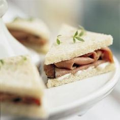 Reception food - Sandwich #3! Roast beef and horseradish spread