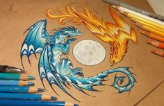 Dark and light Pencils, pens Art © me Custom drawing  FACEBOOK ETSY SHOP TWITTER TUMBLRMY PRINTS