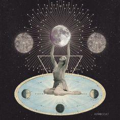 Digital Collage, Collage Art, Mystic Mamma, Anima Mundi, Architecture Tattoo, Universe Art, Visionary Art, Moon Art, Graphic Illustration