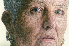 Artist Cayce Zavaglia creates detailed embroidered portraits that look like they've been painted, not made with needle and thread Thread Painting, Thread Art, Needle And Thread, Wool Thread, Contemporary Embroidery, Sewing Art, Embroidery Applique, Embroidery Thread, Embroidery Patterns