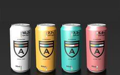Arboga Öl Rebrand by Gustav Karlsson, via Behance