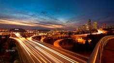 500px'te Alejandro Espitia tarafından Seattle Skyline Under Sunset Skies fotoğrafı