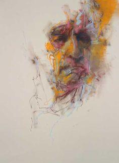 """Cian McLoughlin, """"Camden Man G! ~ chalk on paper"""