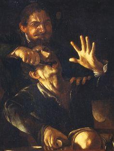 "caravaggista: ""The Tooth Puller: Caravaggio (attributed, c. Theodoor Rombouts (before & Gerrit van Honthorst (c. Baroque Painting, Baroque Art, Italian Painters, Italian Artist, Caravaggio, Carravagio Paintings, Gian Lorenzo Bernini, Dark Artwork, Michelangelo"