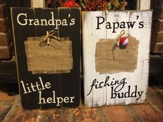 Grandpa's little helper Papaws fishing buddy by REFINDdesigngals