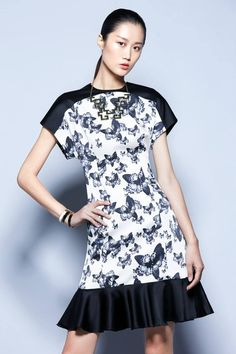 b8e2e697 Shanghai Tang, Butterfly Print, Clothes For Sale, Clothes For Women, Silk  Dress