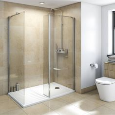 V8+ Walk in Shower Enclosure Pack 1400 x 900 - Victoria Plumb