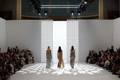 fashion show set runway fashion week SS15