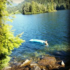 Garden Bay Lake near Pender Harbour on the Sunshine Coast of BC, Canada. The water is clean, crystal clear and warm. One of our favorite spots.