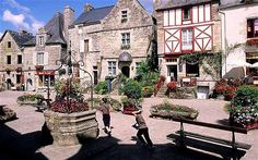 The medieval town of Rochefort en Terre, Brittany