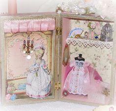 Marie Antoinette altered box ~ boudoir