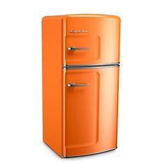 Orange Retro Refrigerator by Big Chill #yesplease