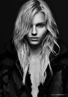 Andrej Pejic , Stunning modeling in female clothing, and just breathtaking in menswear, His beauty surpasses gender.
