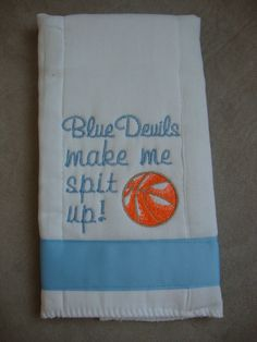 Tar Heel burp cloth.
