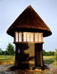 Whimsy!...Pasture Folly by Mcalpine Tankersley. Tiny house... or giant mushroom?