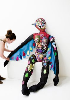 elena Stonaker, Preparing Quetzal. (2012) We are liking this woman's work a Lot! Pamela