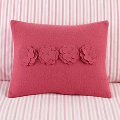 Bouquet pillow from Land of Nod.  This would be cute for Lucy's bed using felted sweaters or wool/bamboo blend felt from Etsy.