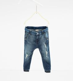 Faded jeans with rips-JEANS-Boy-Kids   4-14 years-KIDS   ZARA United States