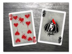 aces and eights playing cards box