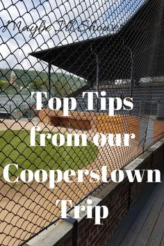 Top tips from our Cooperstown trip Maybe I'll Shower Today Best Vacation Spots, Vacation Places, Best Vacations, Vacation Destinations, Vacation Trips, Vacation Ideas, Cooperstown All Star Village, Cooperstown Dreams Park, Cooperstown New York