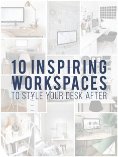 Building an awesome desk space can be a great way to improve productivity. Here are 10 inspiring workspaces that you can use to build your perfect desk..