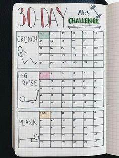 An epic list of workout trackers to try for your bullet journal! Pick your workout plan and keep track of your torture sessions in style. Try these Bullet Journal workout trackers for motivation and faster weight loss! Bullet Journal Tracker, Bullet Journal 30 Days, Bullet Journal Workout, Bullet Journal Health, Bullet Journal Grocery List, Bullet Journal Ideas How To Start A, Bullet Journal Layout Daily, Dotted Bullet Journal, Bullet Journal Hacks