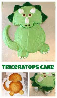 Easy triceratops dinosaur birthday cake recipe