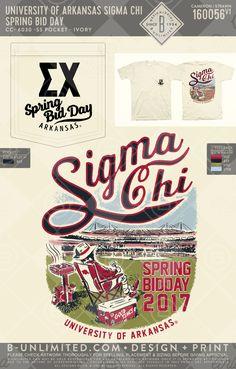 Bid day is better at the fields Bid Day Shirts, School Shirts, Fraternity Rush Shirts, Sigma Chi, Sammy, Greek Shirts, University Of Arkansas, Greek Apparel, Greek Clothing