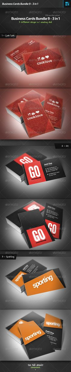 Business Cards Bundle 9 - 3 in 1