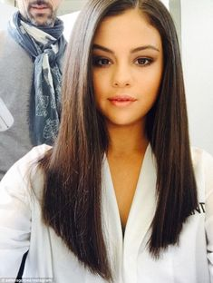 Hair star: On Wednesday, Selena Gomez showed why she is the new face of Pantene in a fabulous salon shot